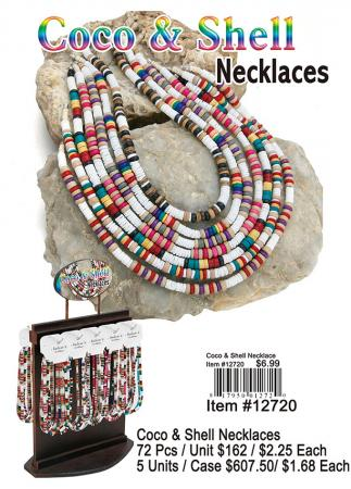 12720-Coco-&-Shell-Necklaces