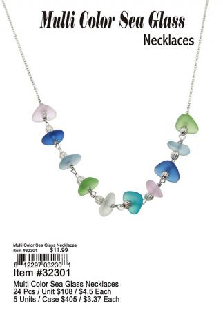 32301-Multi-Color-sea-Glass-Necklaces
