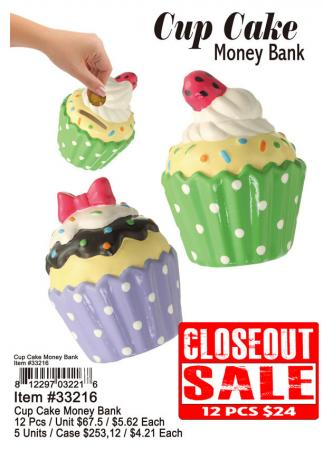 Toys-33216-Cup-Cake-Money-Bank-12-24