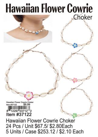 37122-Hawaiian-Flower-Cowrie-Choker