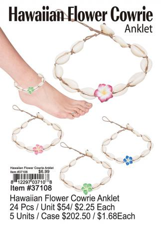 37108-Hawaiian-Flower-Cowrie-Anklet