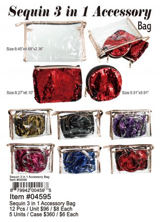 04595- Sequin 3 in 1 Accessory Bag
