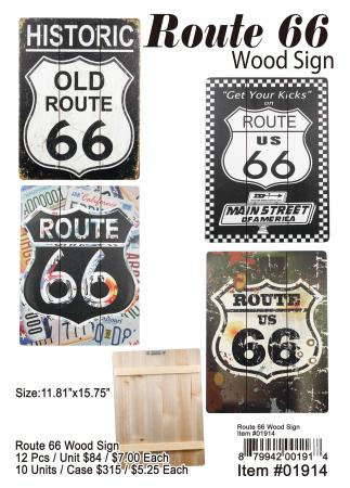 01914-Route 66 Wood Sign