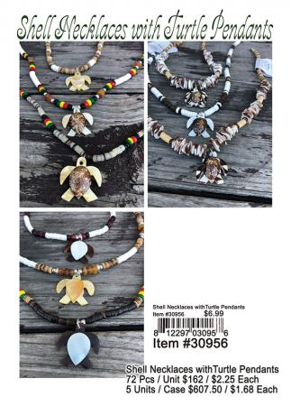 30956-Shell-Necklaces-with-Turtle-Pendants